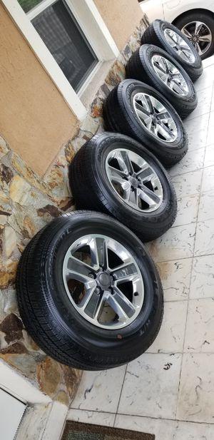 """2019 Jeep Wrangler rims 18"""" wigh bridgrstone tires NEW. for Sale in Miami, FL"""
