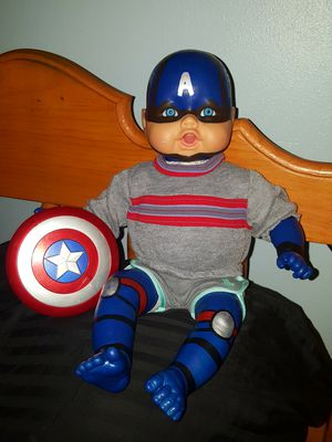 Captain America baby doll! for Sale in Home, WA