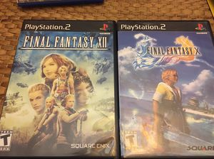 Final Fantasy 10 and 12 PS2 for Sale in Silver Spring, MD