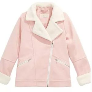MICHAEL KORS Moto Style dusty rose faux suede lined with shearling for Sale in Oklahoma City, OK