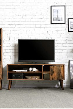 TV Stand, TV Console for TVs up to 43 Inches, Mid-Century Modern Entertainment Centre for Flat Screen TV, Gaming Consoles, in Living Room for Sale in Rancho Cucamonga,  CA