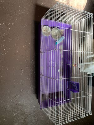 A very nice size cage for a decent price Comes with everythingYou see in the picture willing to negotiate price for Sale in Reynoldsburg, OH