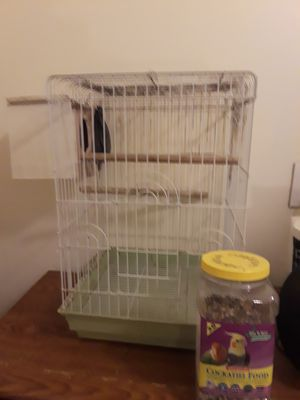 Bird cage with nest and food for Sale in Jersey City, NJ