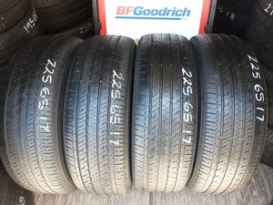 4 USED TIRES 225 65 17 BRIDGESTONE ECOPIA 70% TREAD $150 ALL 4 INSTALLED AND BALANCED for Sale in San Diego, CA