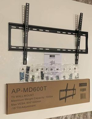 "New LCD LED Plasma Flat Tilt TV Wall Mount stand 32 37"" 40"" 42 46"" 47 50"" 52 55"" 60 65"" inch tv television bracket 100lbs capacity for Sale in Pico Rivera, CA"