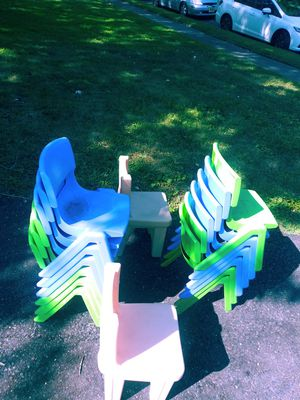 14 kid chairs 2$ per chair for Sale in Voorhees Township, NJ