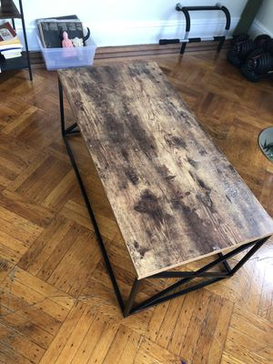modern wood coffee table for Sale in Passaic, NJ