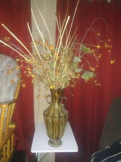 Silk Flower Arrangement/ Tin Vase for Sale in Tucson,  AZ