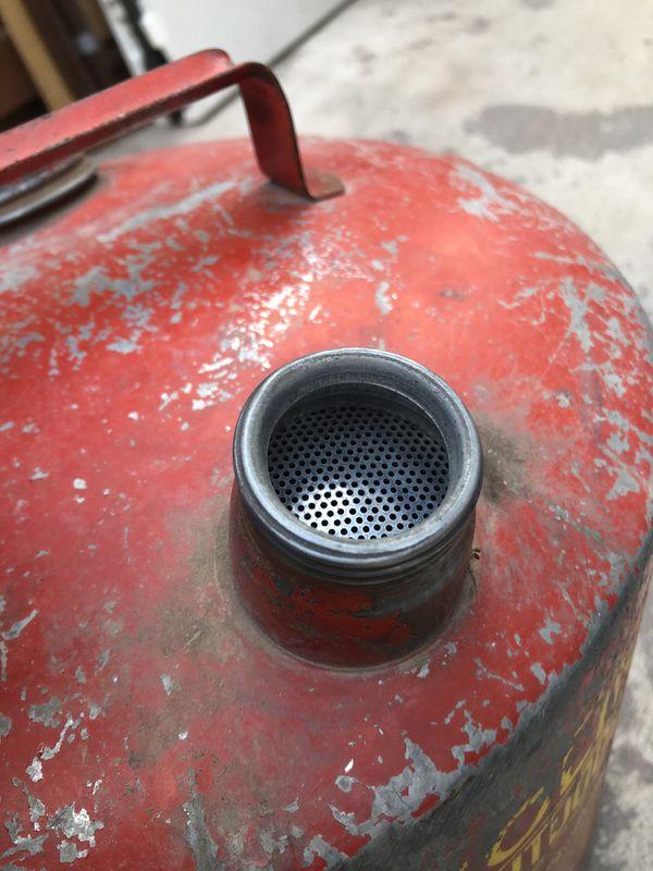 Vintage 5 gallon metal gas can