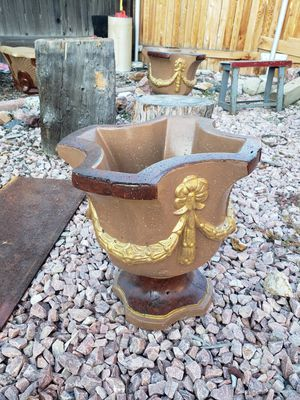 Beautiful Concrete Planting Pots for Sale in Denver, CO