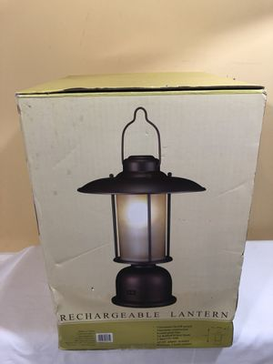 Lantern Aluminum & Glass & Rechargeable Patio Catering Camping Party Pool Events for Sale in Garrison, MD