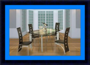 Glass dining table with 4 chairs for Sale in Crofton, MD