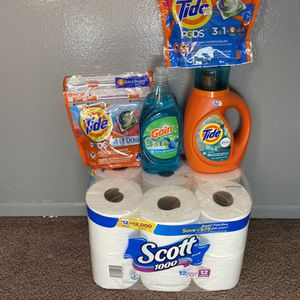 Household Bundle $27 Tide And Toilet Paper for Sale in Huntington Beach, CA