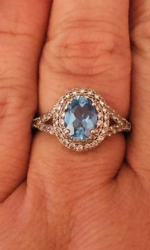 Sterling Silver 925. Blue Topaz Ring. Size 7. Jewelry for Sale in Fort Myers, FL