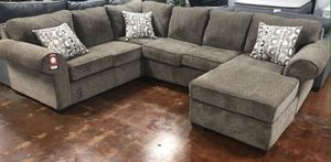 Large Cocoa Sectional Sofa Couch!! Brand New Free Delivery for Sale in Chicago, IL