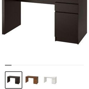 IKEA MALM Office Desk - Dark Brown for Sale in San Diego, CA