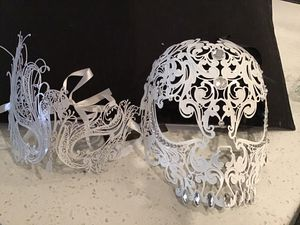 Halloween Metal Bejeweled Masquerade Masks for Sale in Gilbert, AZ