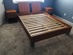Modern Contemporary Teak Bedroom Furniture Set Queen for Sale in Tempe, AZ