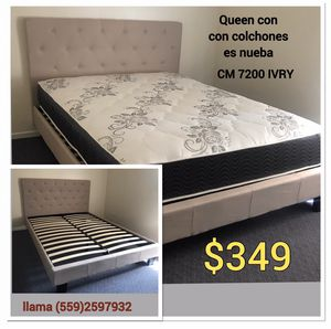 Queen w mattress new for Sale in Fresno, CA