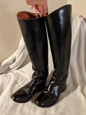 Tall Black Vintage Leather Boots for Sale in Maplewood, MN