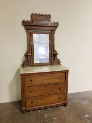 Antique dresser with marble top for Sale in Montclair, CA
