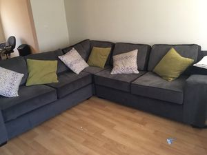3 piece sectional couch with 2 USB ports and 6 throw pillows for Sale in Nottingham, MD