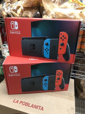 Nintendo Switch Gray Console Neon Red and Blue Joy-Con 2.0 IN HAND for Sale in The Bronx, NY