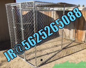 Large chain link dog kennel cage jaula new! for Sale in San Bernardino, CA