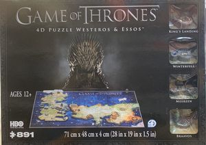 Game Of Thrones 4D Puzzle Westeros & Essos for Sale in Missouri City, TX