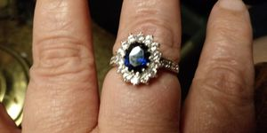 A Beautiful Sapphire White/Gold Oval Ring for Sale in Columbia, PA