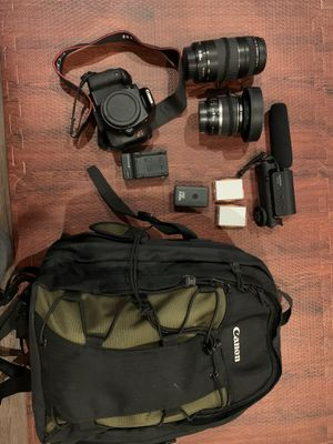 Canon t2i complete bundle for Sale in Fairfax Station, VA