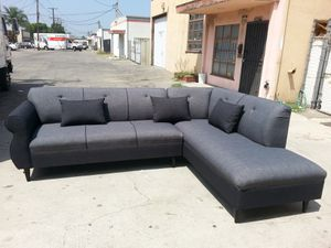 NEW 9X7FT ELITE CHARCOAL FABRIC COMBO SECTIONAL CHAISE for Sale in Yorba Linda, CA