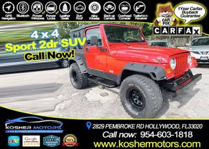 1999 Jeep Wrangler for Sale in Hollywood, FL