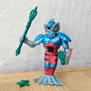 Vintage 1992 Teenage Mutant Ninja Turtles Merdude Merman TMNT Action Figure Toy Near Complete - Missing One Of His Weapon for Sale in Elizabethtown, PA