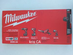 M18 milwaukee 4pcs tool combo kit for Sale in La Puente, CA