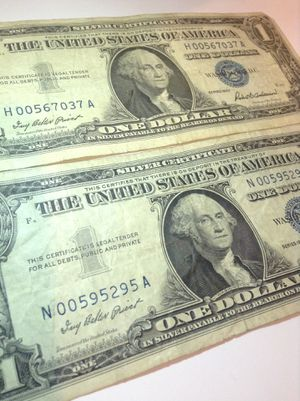 """Scarce LOW Serial Number Silver Certificates Lot- """"00"""" Before Numbers- Harder To Find Low Serial Numbers! for Sale in Fairfax, VA"""