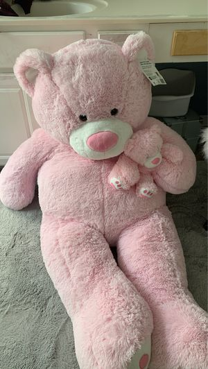 Giant Pink Teddy Bear with baby Bear for Sale in Roswell, GA