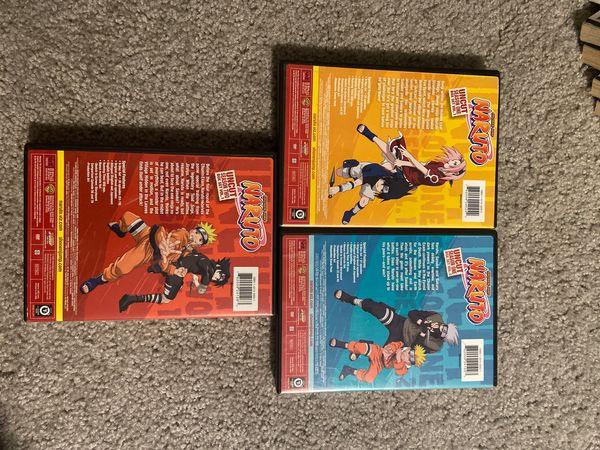 Naruto Manga and Anime Dvds