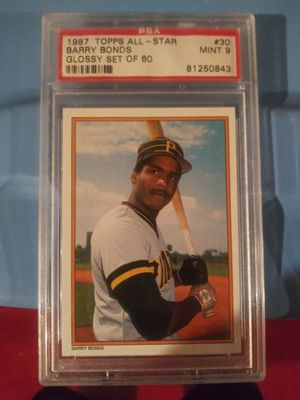 Topps Barry Bonds 1987 all star baseball card for Sale in Fieldsboro, NJ