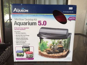 Aqueon 5 gallon desktop kit _ RED color for Sale in Gibsonton, FL