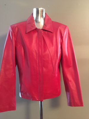 Red Leather Jacket for Sale in Bowie, MD