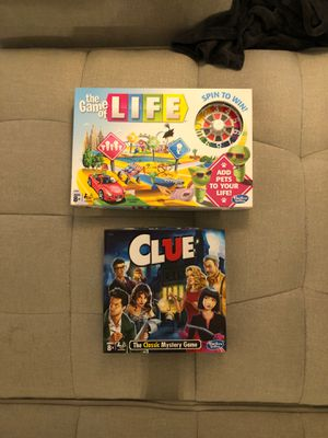 Life & Clue Board Games for Sale in Hortonville, WI