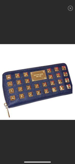 Michael Kors Navy/Gold Studded Wallet for Sale in McLean, VA