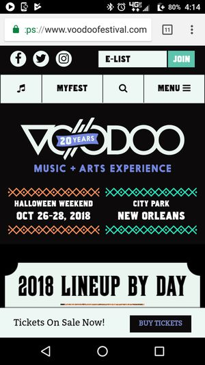 Voodoo fest three day pass for Sale in Baton Rouge, LA