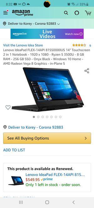 Lenovo 2-in-1 Touchscreen Laptop for Sale in Corona, CA