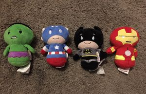 Marvel & DC itty bittys plushies - Hulk, Captain America, Batman and Ironman for Sale in Tampa, FL