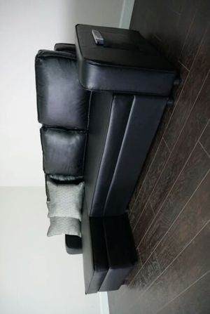 """""""Julia Black Reversible,,,,,, Sofa Sleeper Chaise with Storage 🌺 $ 39 DOWN for Sale in Houston, TX"