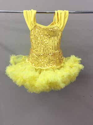 Yellow sequin tutu dress/ size S for Sale in Houston, TX