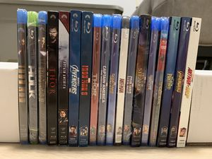 Marvel blu ray movie collection for Sale in Renton, WA