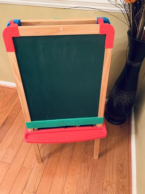 Children Kids 2 In 1 Wooden Drawing Board Artist Easel,Double-sided Easel,Black Chalk Board/White Dry Ease Board for Sale in Herndon, VA